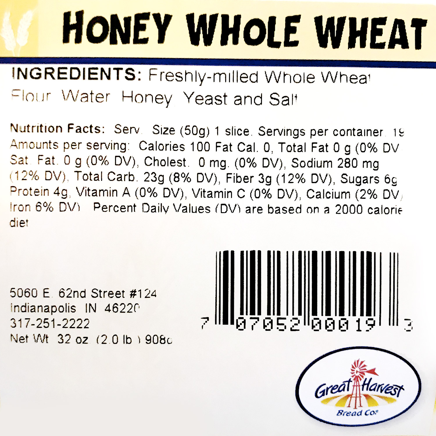 Bread, Honey Whole Wheat