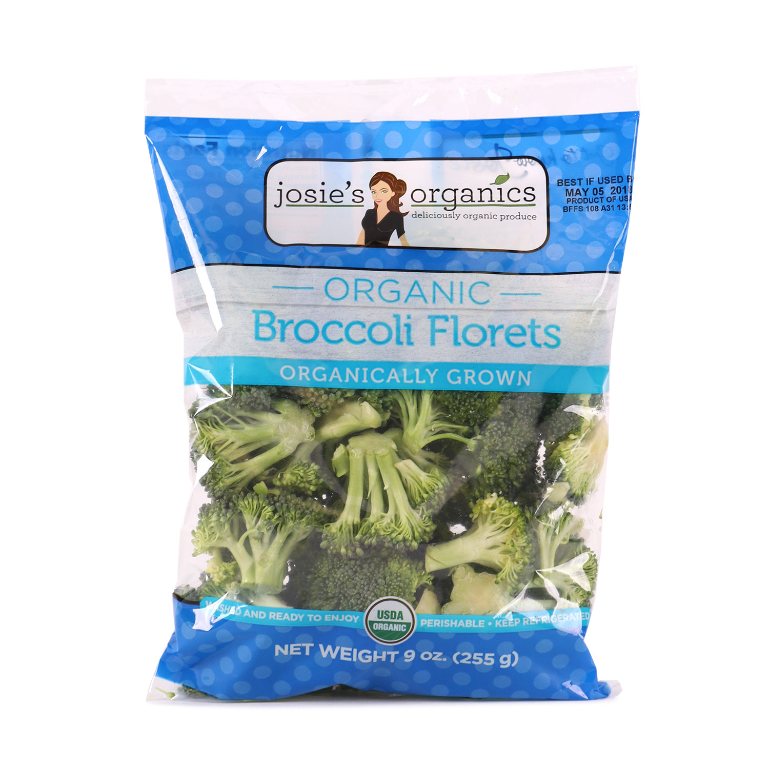 Cut Veggies, Broccoli Florets-Organic
