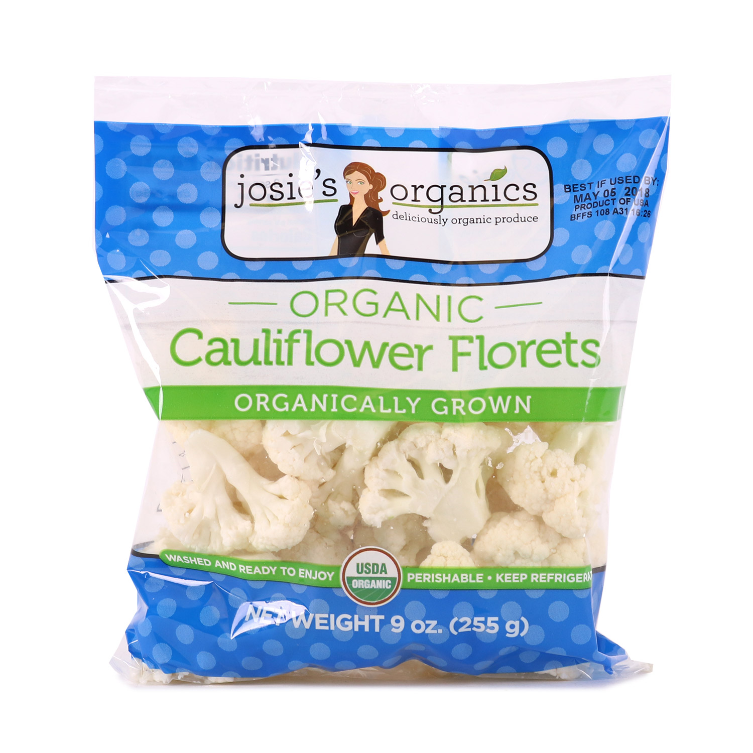 Cut Veggies, Cauliflower Florets-Organic