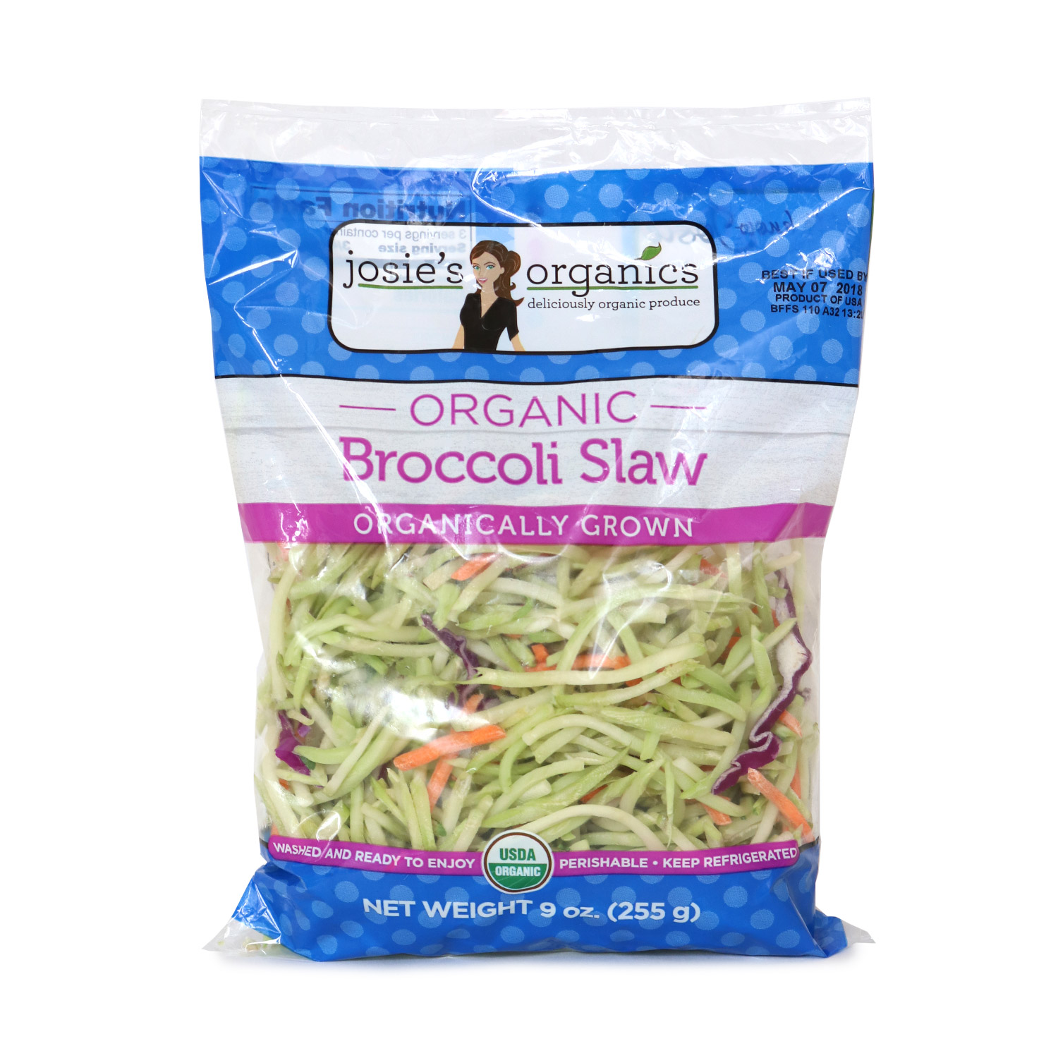 Cut Veggies, Broccoli Slaw-Organic
