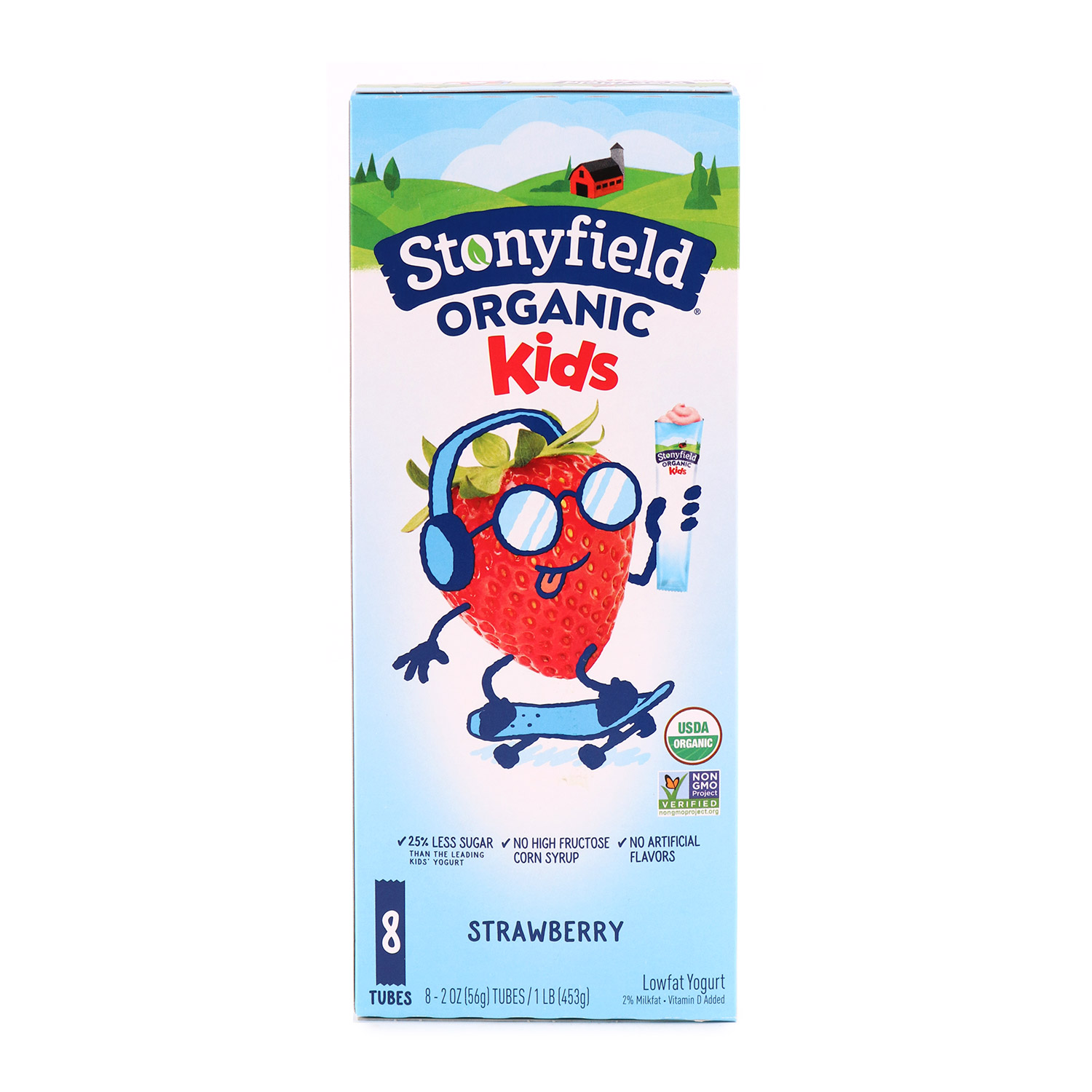 YoKids Squeezers, Strawberry-Organic