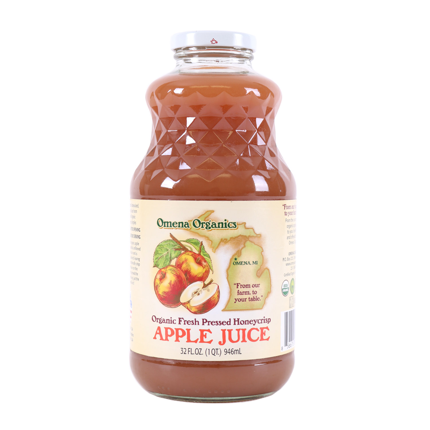 Fresh Pressed Honeycrisp Apple Juice-Organic