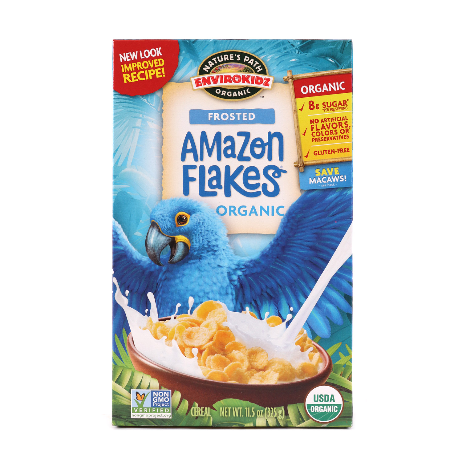 Cereal, Frosted Amazon Flakes-Organic