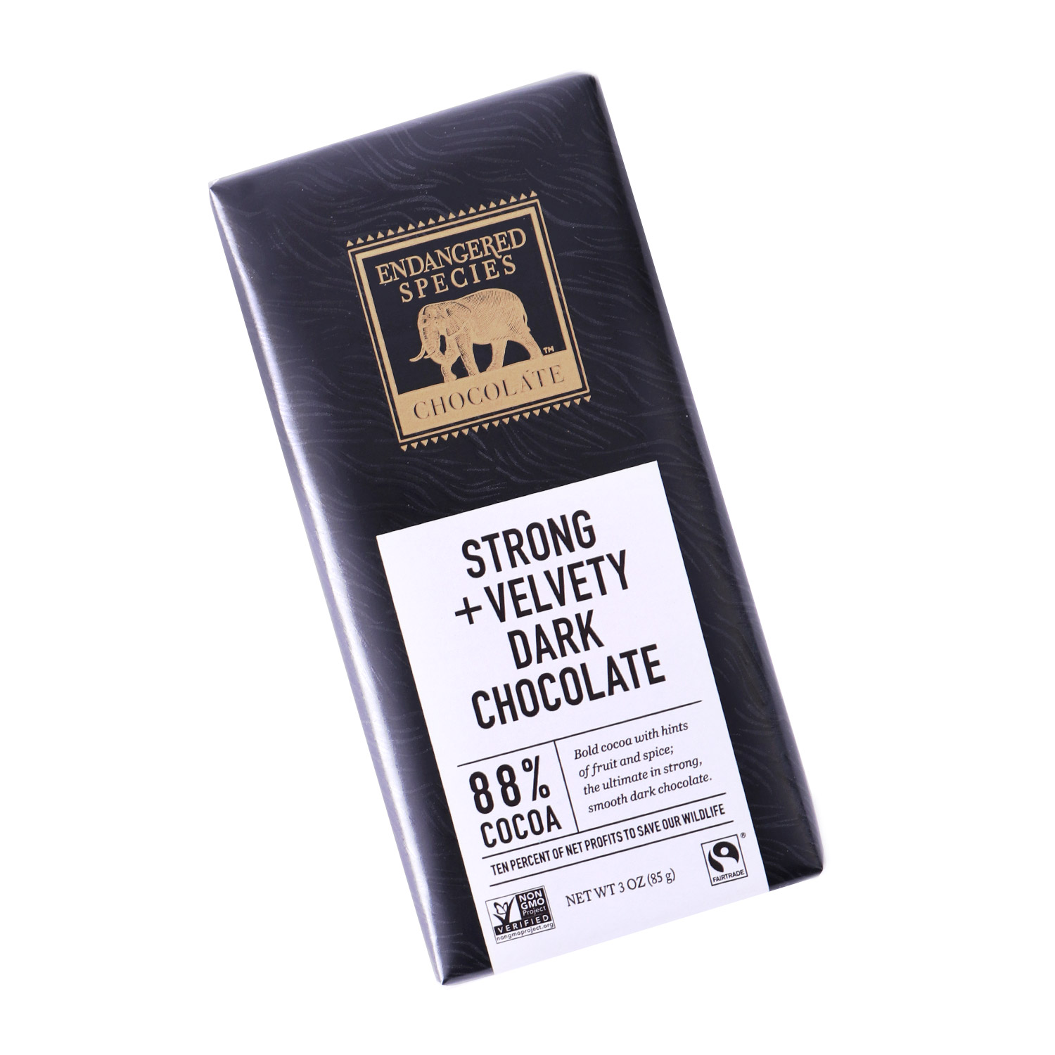 Dark Chocolate, Strong & Velvety - 88% Cocoa