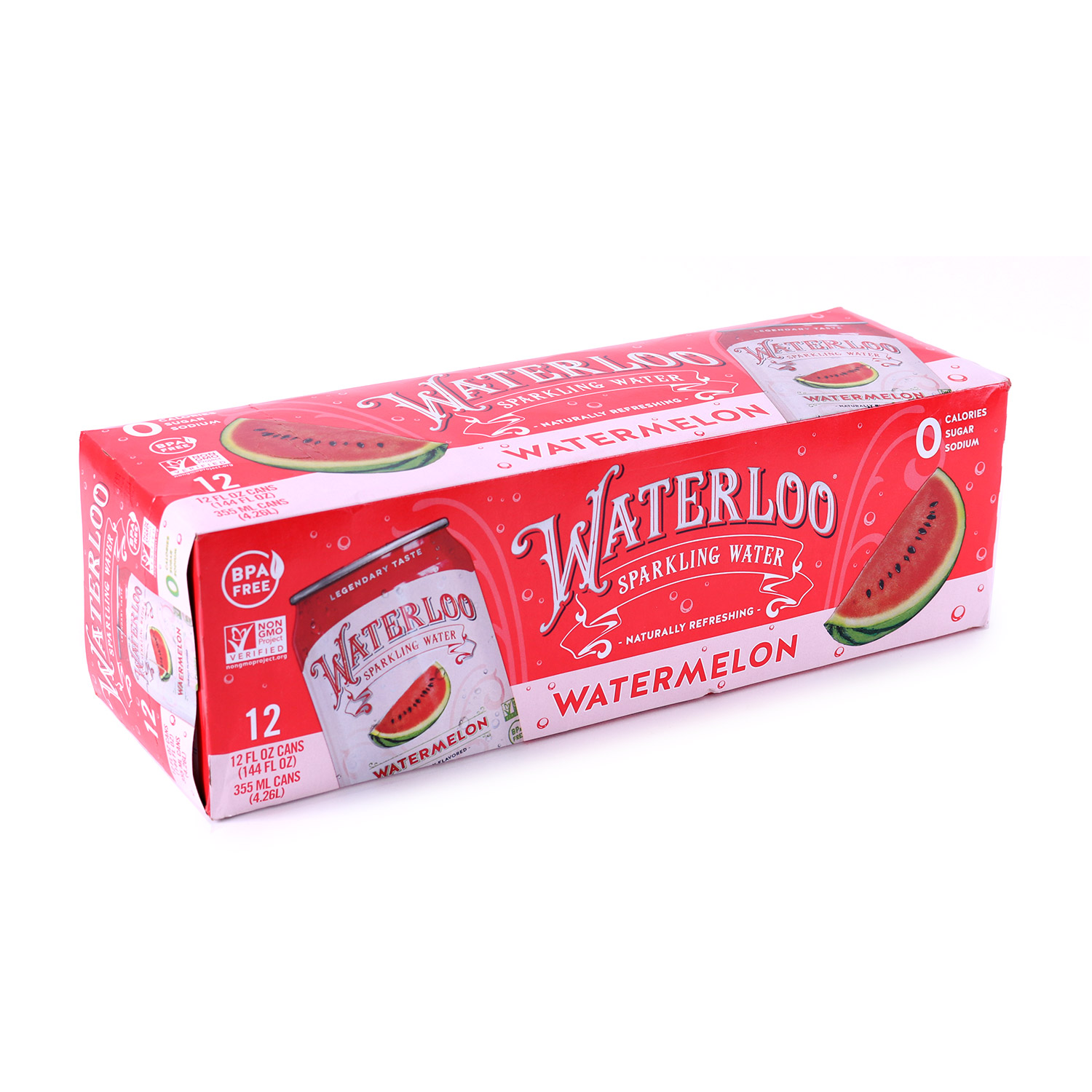 Sparkling Water, Watermelon-Case