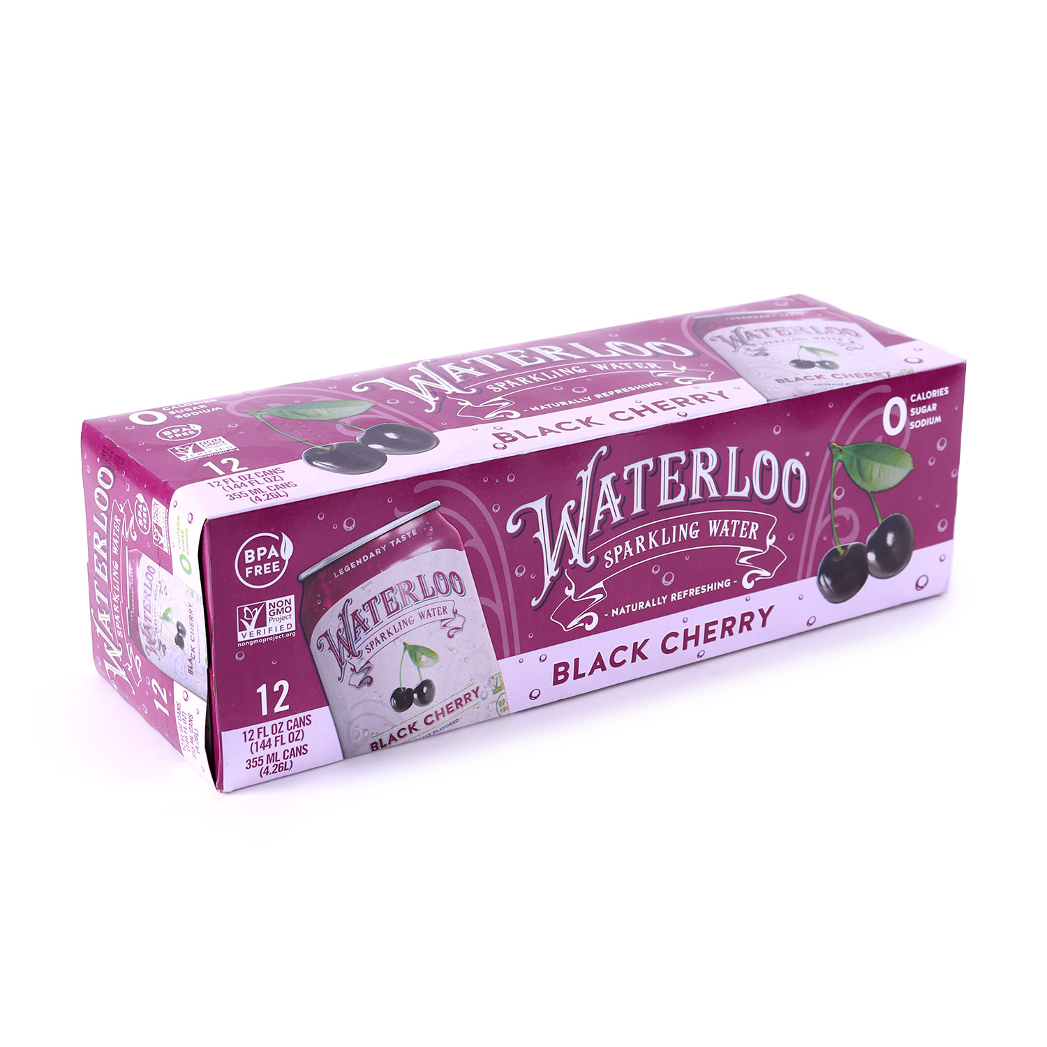 Sparkling Water, Black Cherry-Case