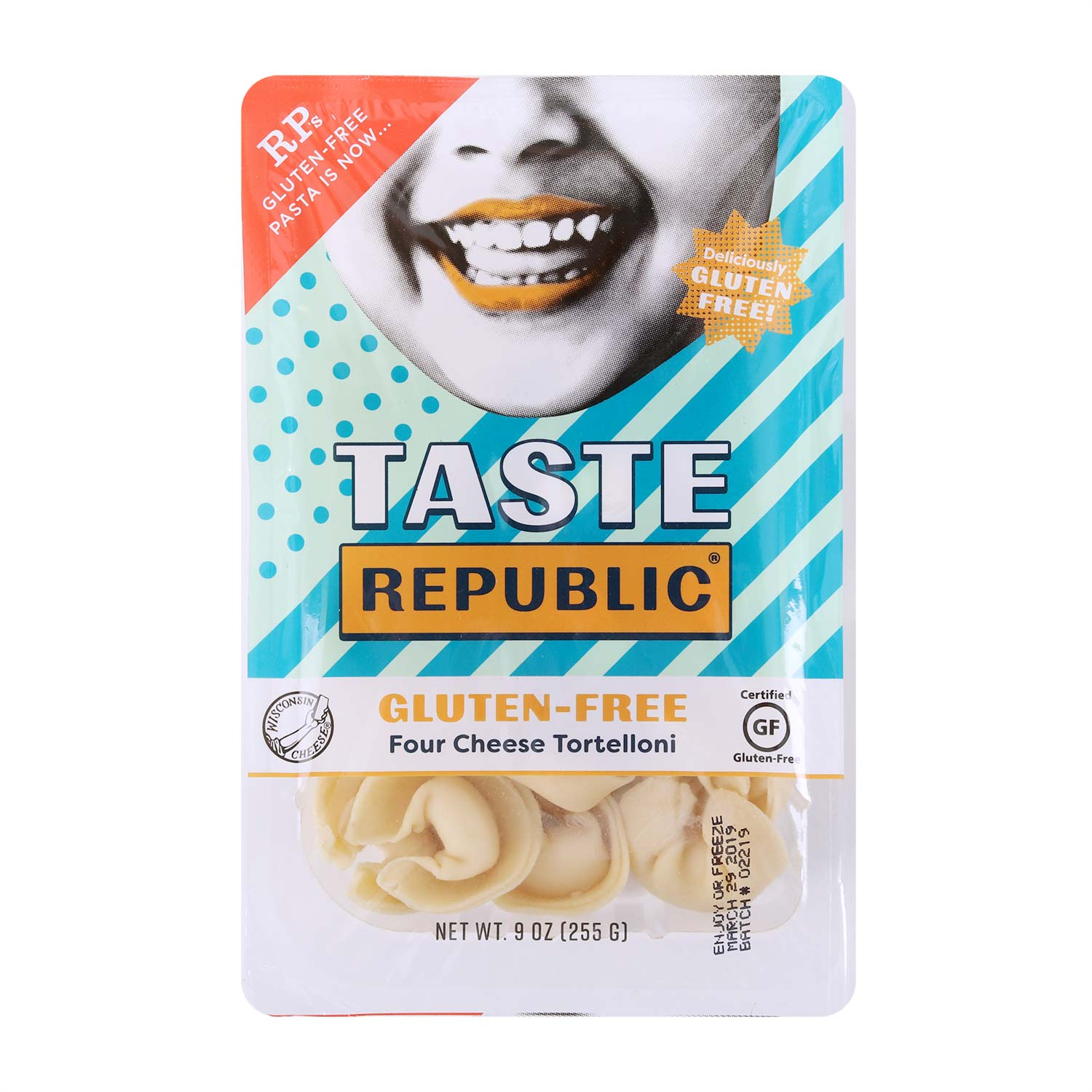 Taste Republic - Four Cheese Tortelloni, Gluten Free