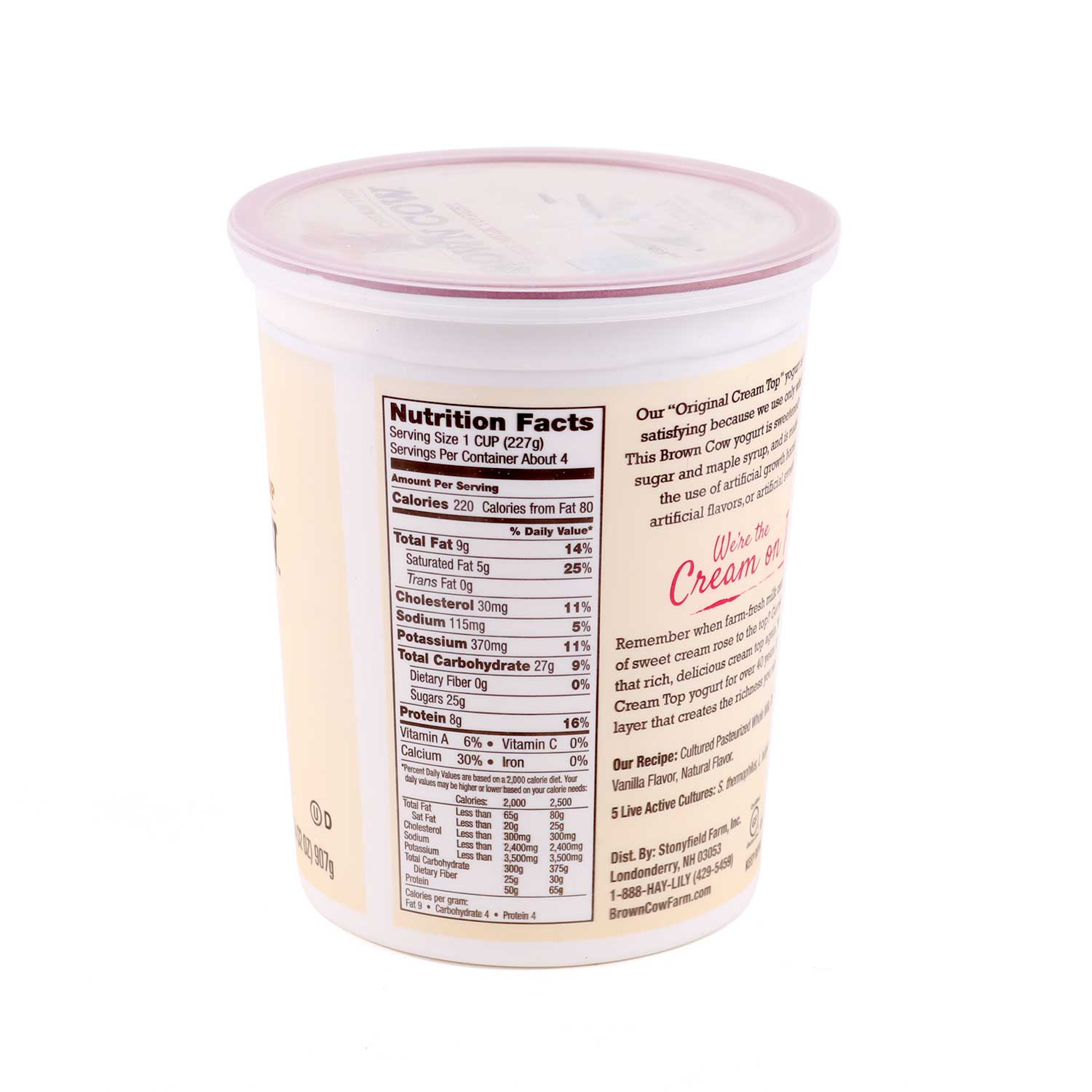 Yogurt, Cream Top - Vanilla - Large
