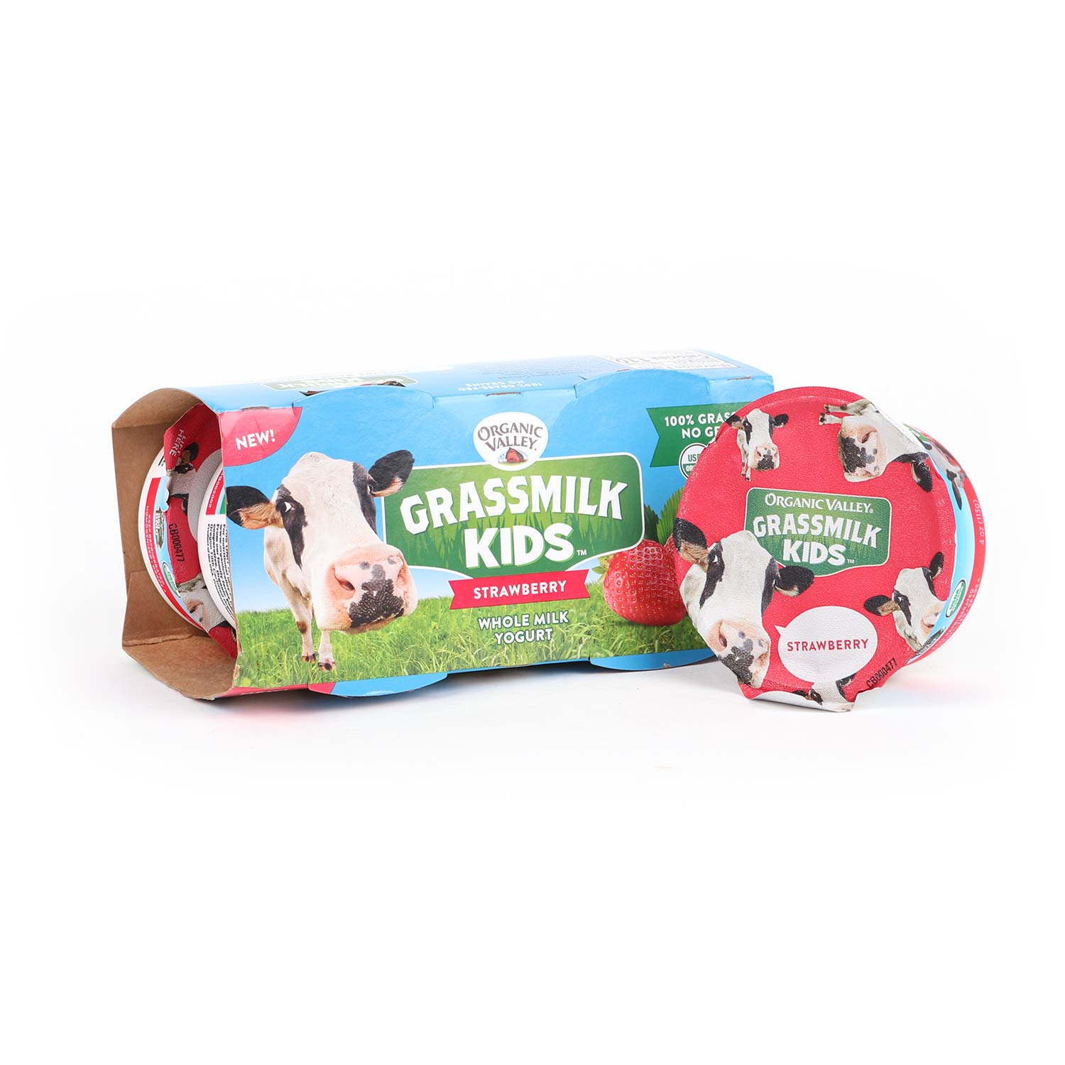 Yogurt, Cups, Grassmilk Kids Strawberry-Organic