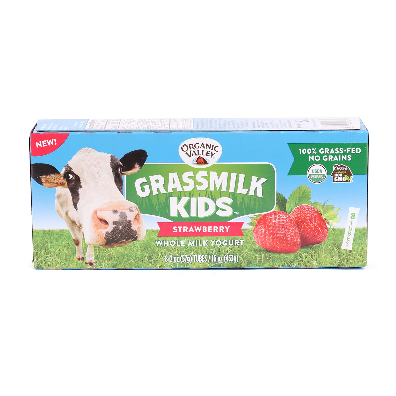 Yogurt, Tubes, Grassmilk Kids Strawberry-Organic