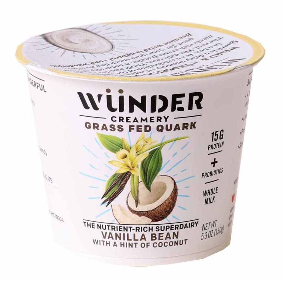 Grass Fed Quark Yogurt, Vanilla Bean Coconut