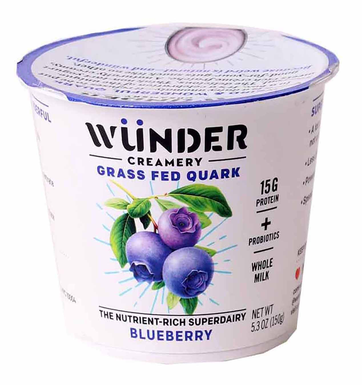 Grass Fed Quark Yogurt, Blueberry