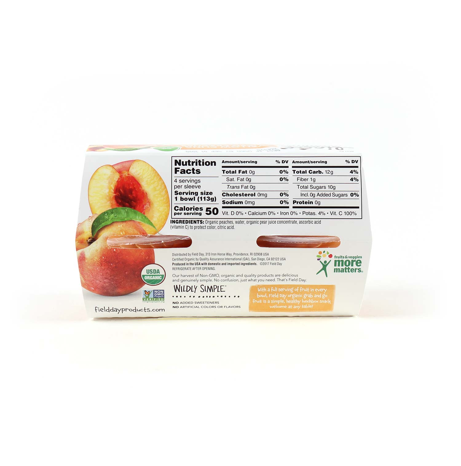 Fruit Cups, Peaches 4 pk-Organic