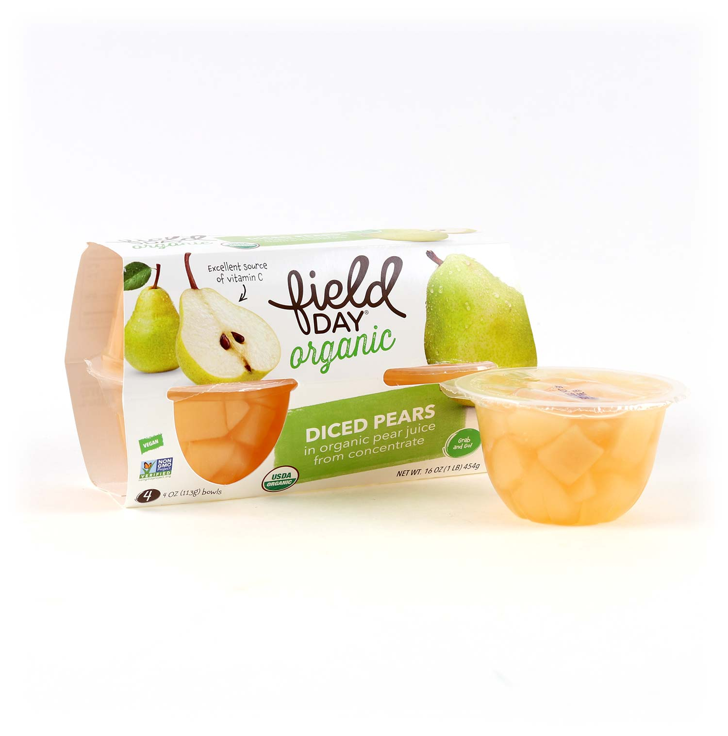 Fruit Cups, Pears 4 pk-Organic