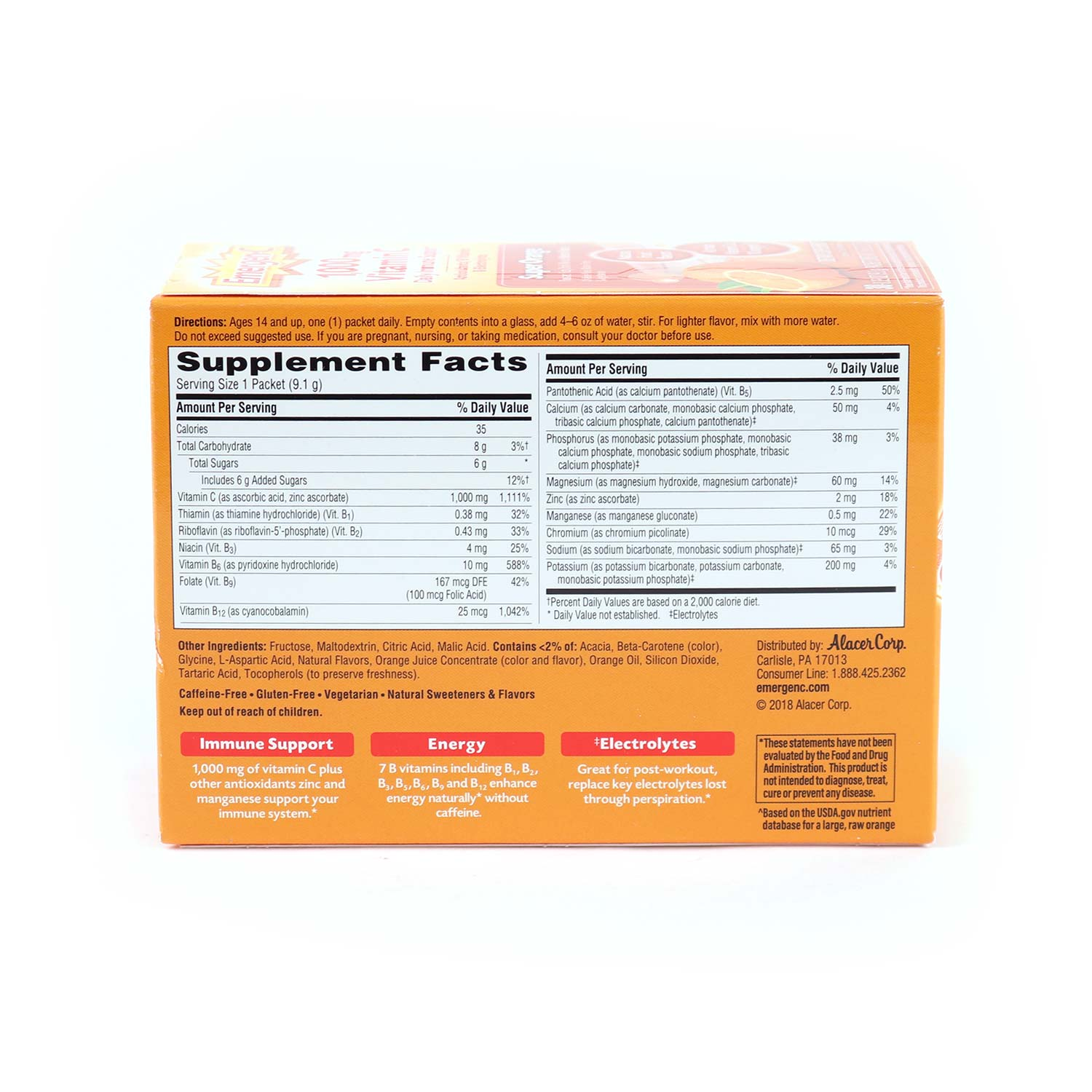 Vitamin Drink Mix, Super Orange