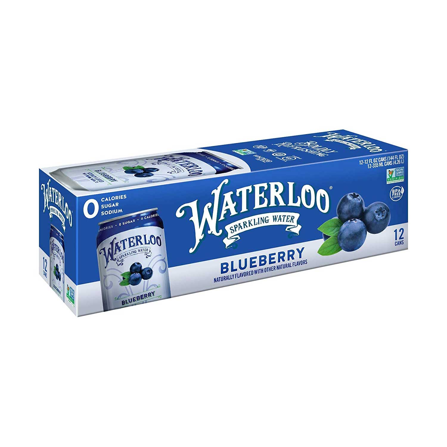 Sparkling Water, Blueberry-Case