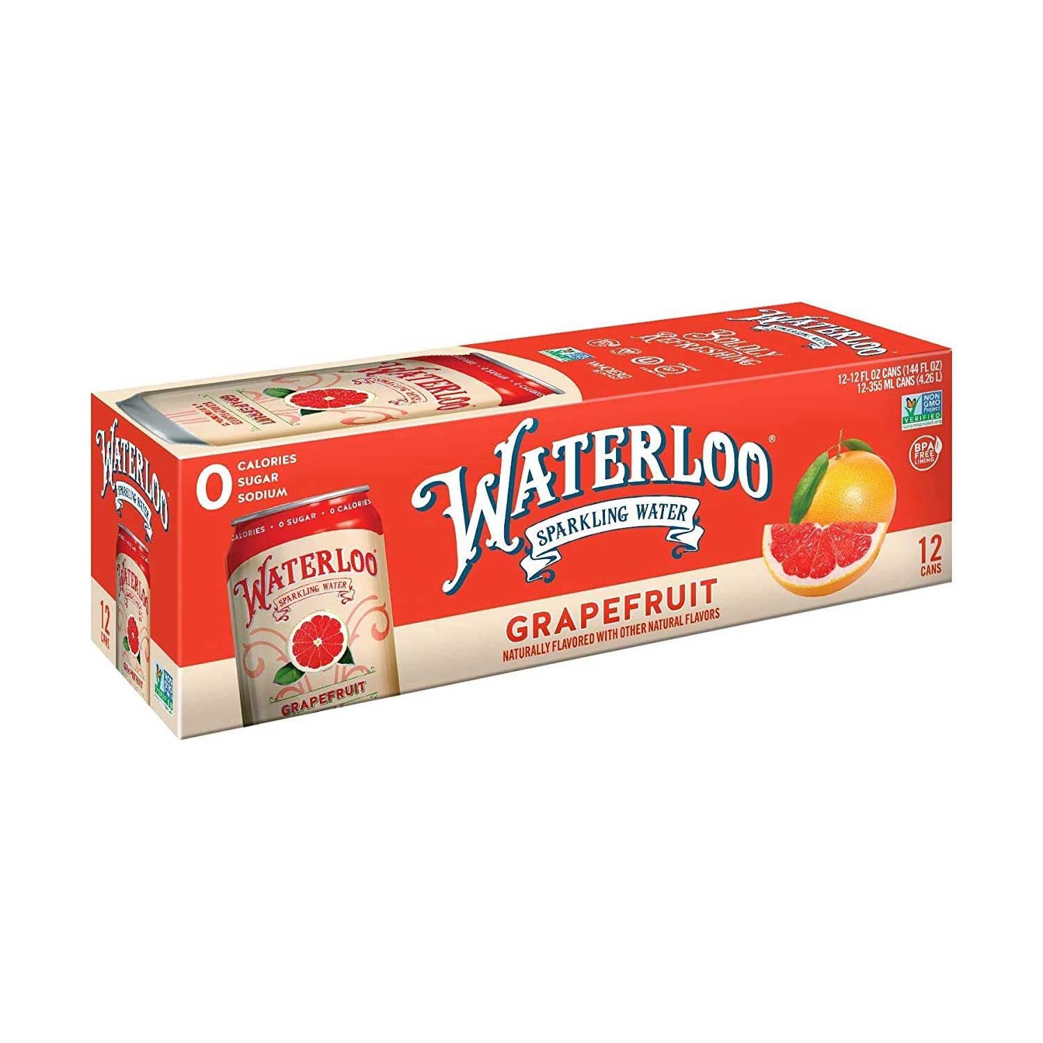 Sparkling Water, Grapefruit-Case