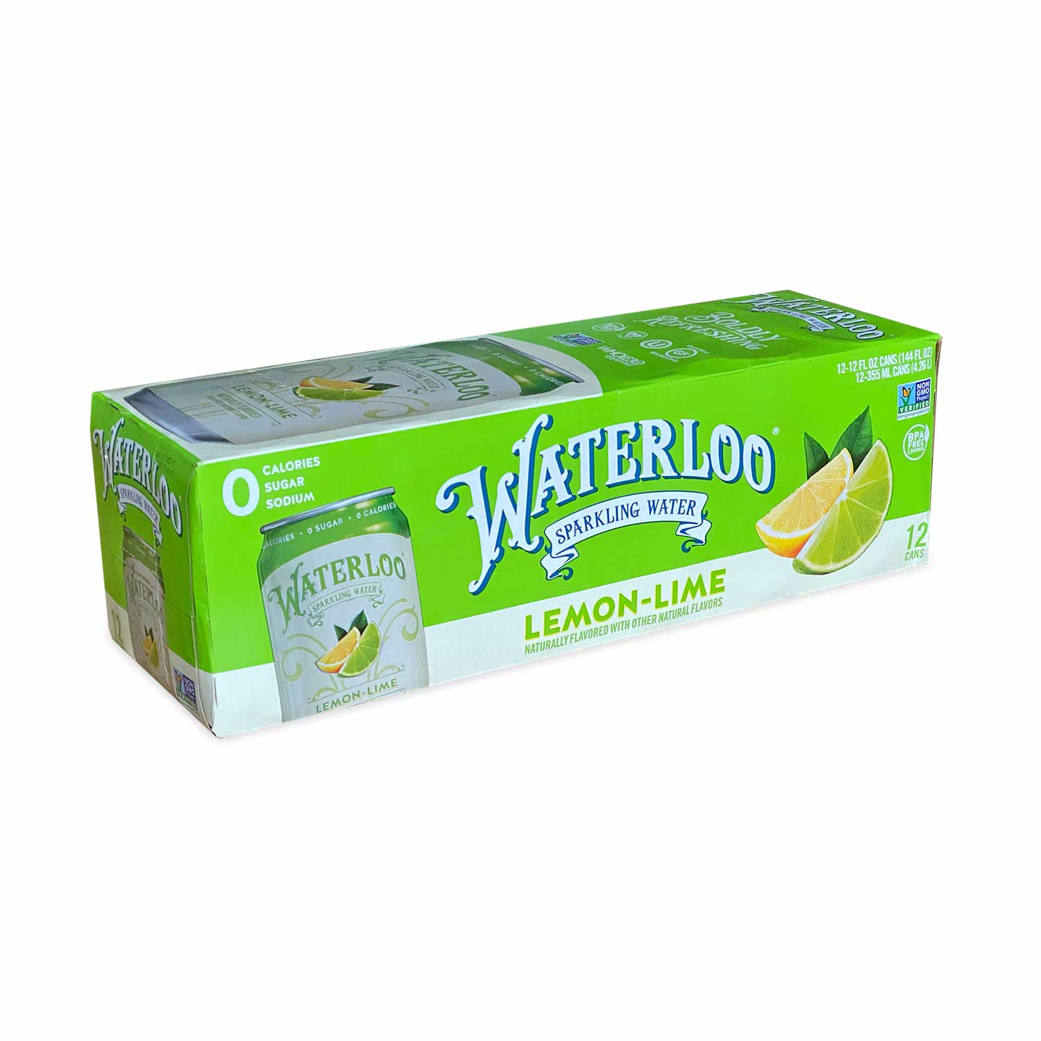 Sparkling Water, Lemon Lime-Case