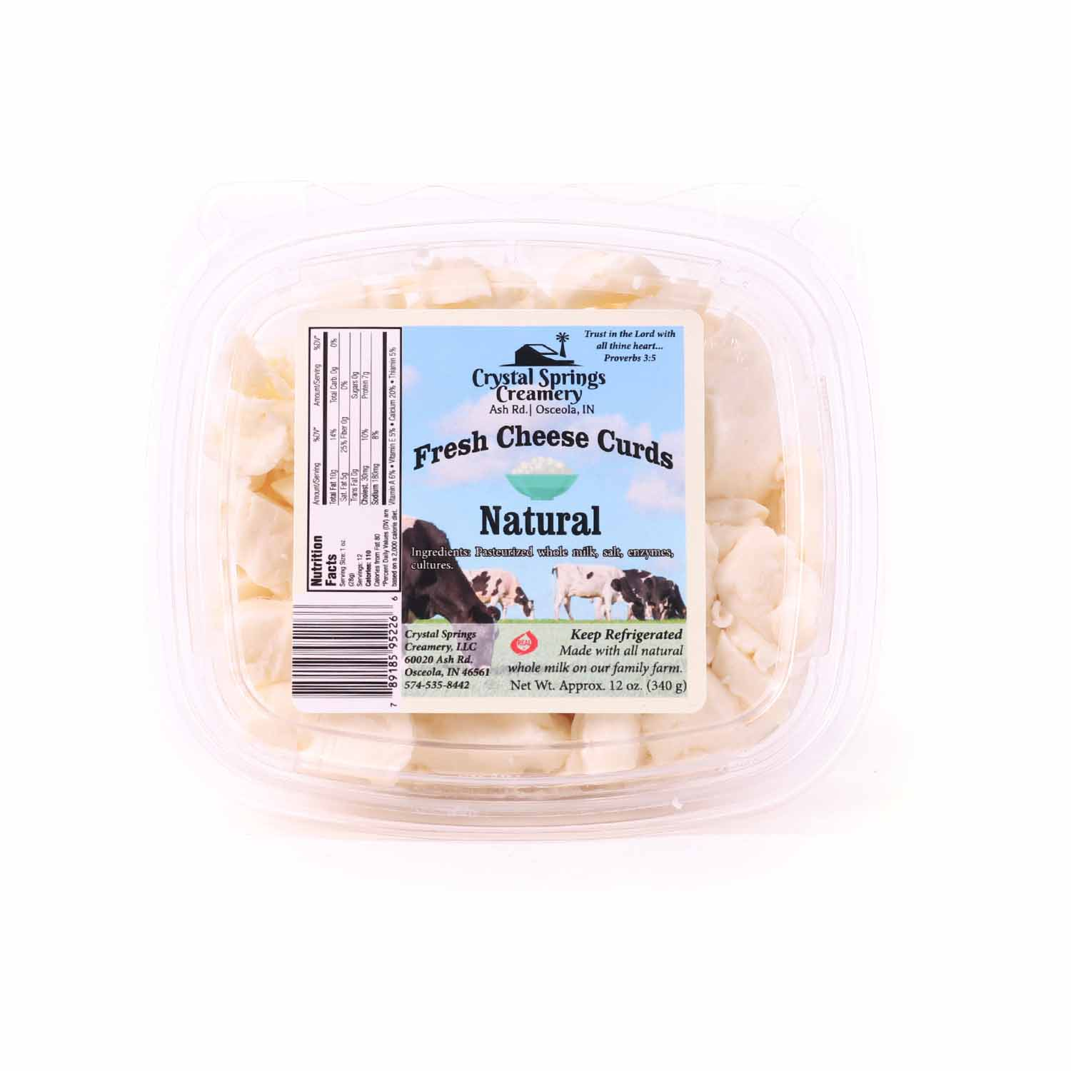 Cheese Curds, Natural