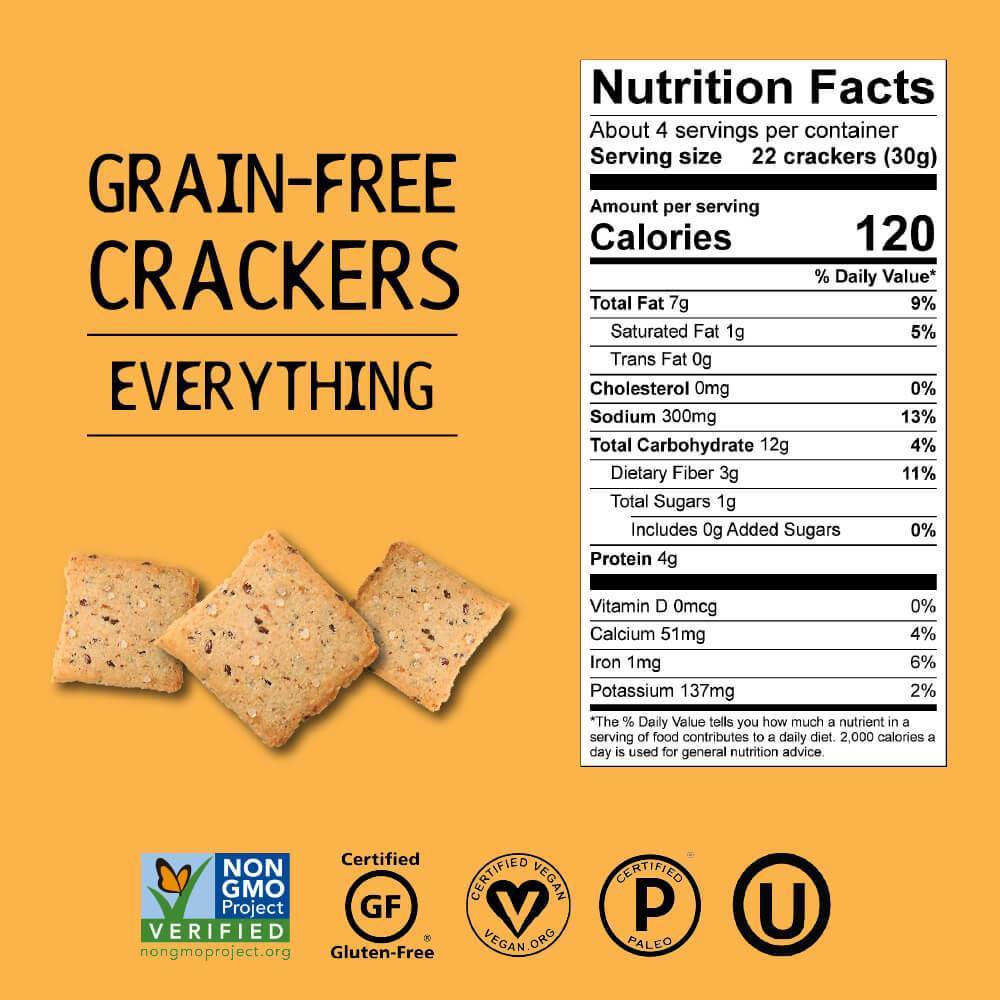 Grain-Free Crackers, Everything