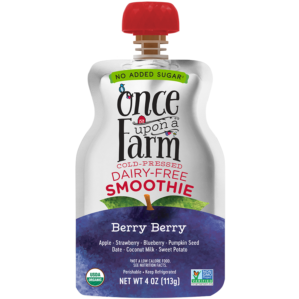 Dairy Free Smoothie Pouch, Berry Berry
