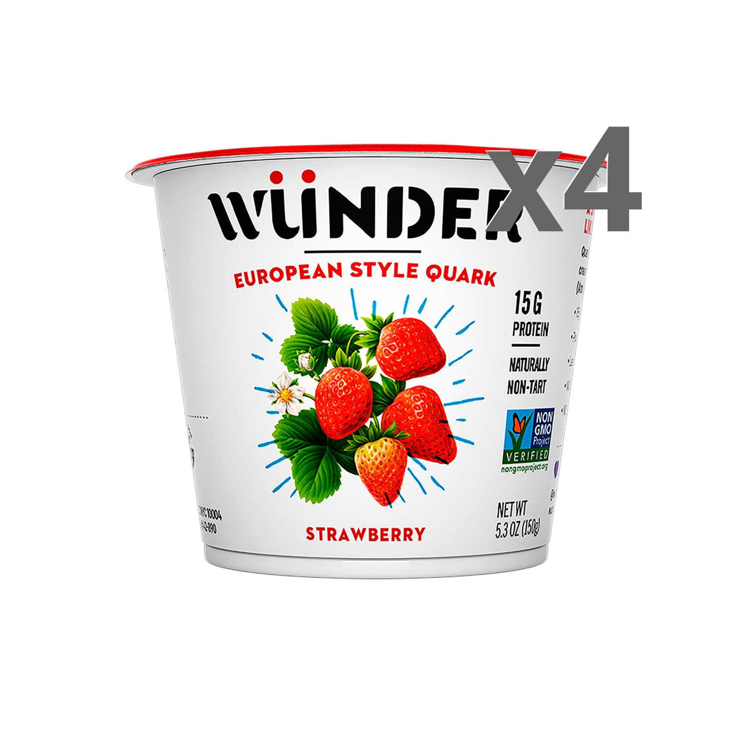 Wunder Creamery 4-Pack Strawberry