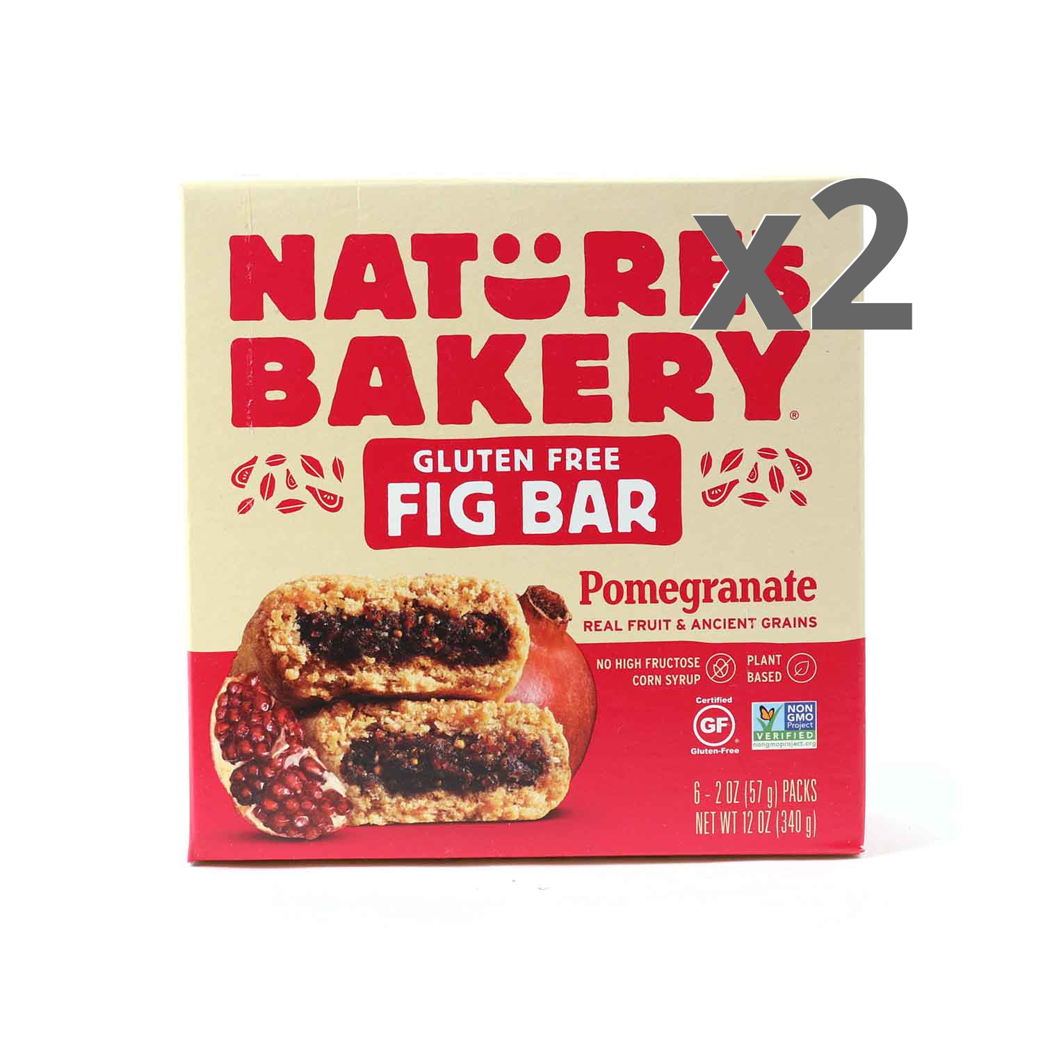 Nature's Bakery Gluten Free Pomegranate Fig Bars 2-Pack