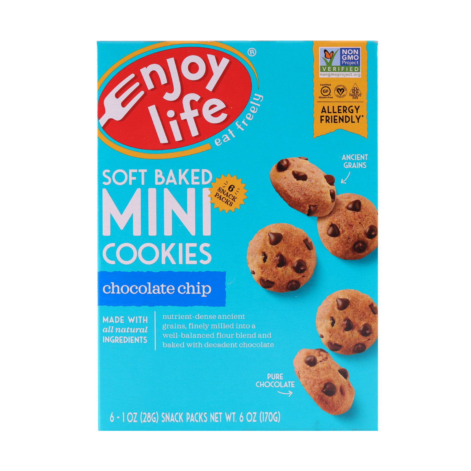 Soft Baked Cookies, MINI Chocolate Chip-Gluten Free