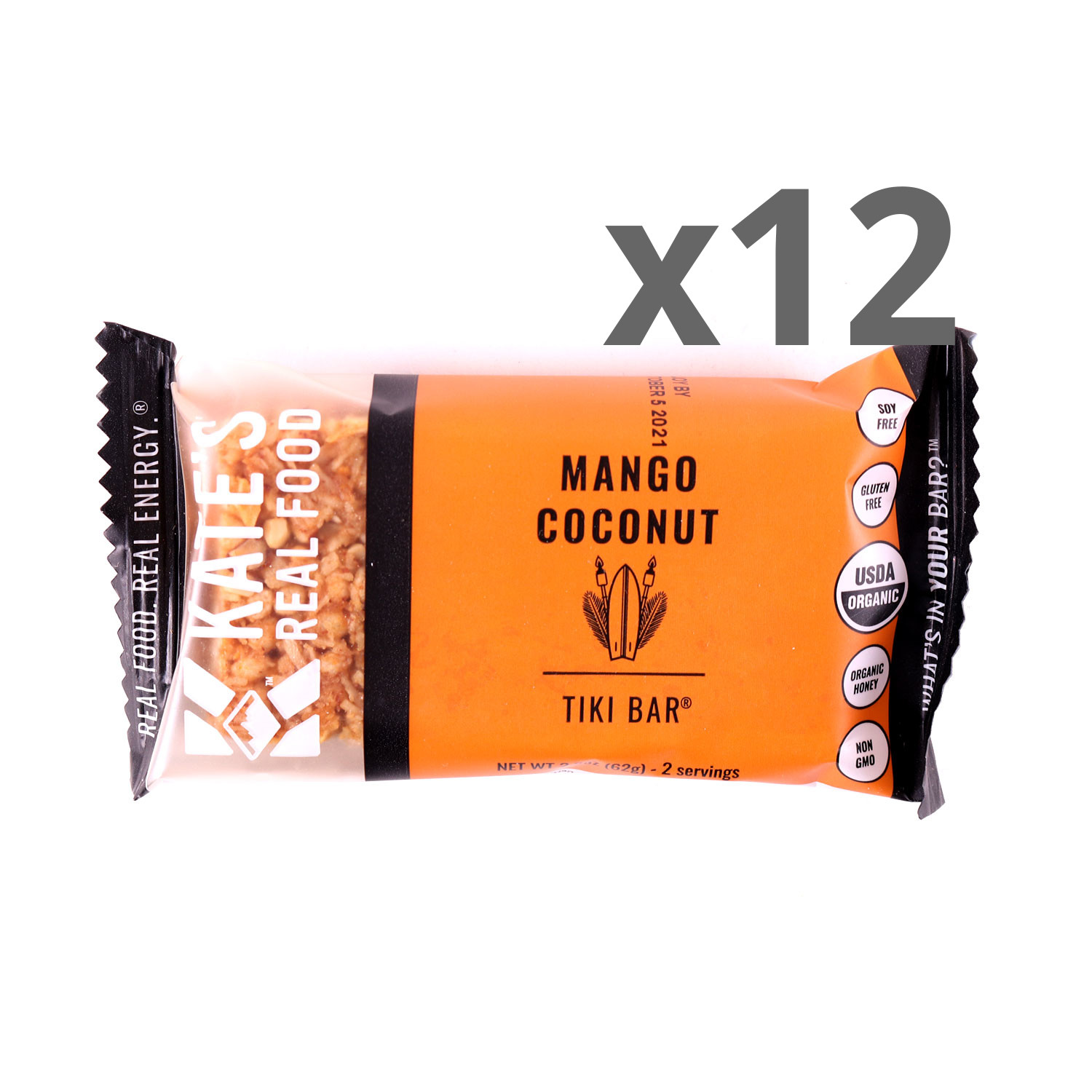Kate's Real Food Mango Coconut Bars - Case