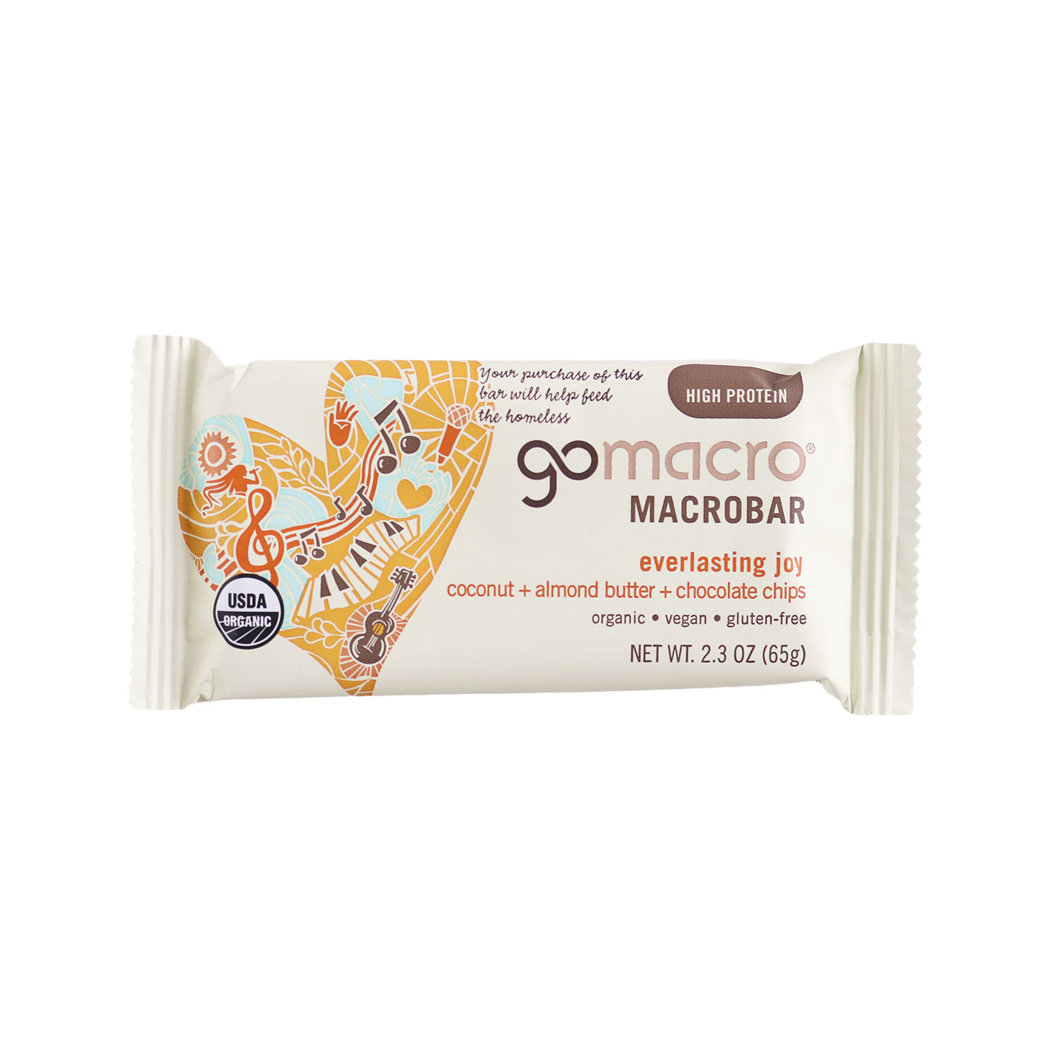MacroBar, Coconut + Almond butter + Chocolate Chips-Organic