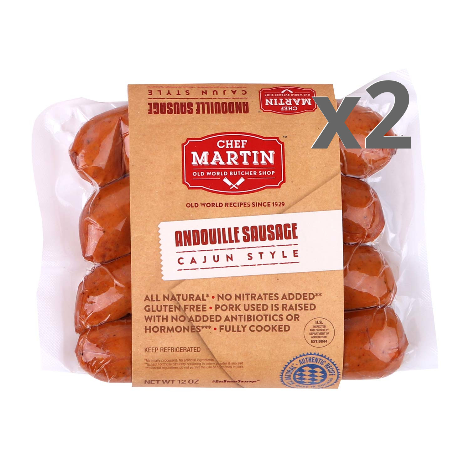 Chef Martin Andouille 2-Pack