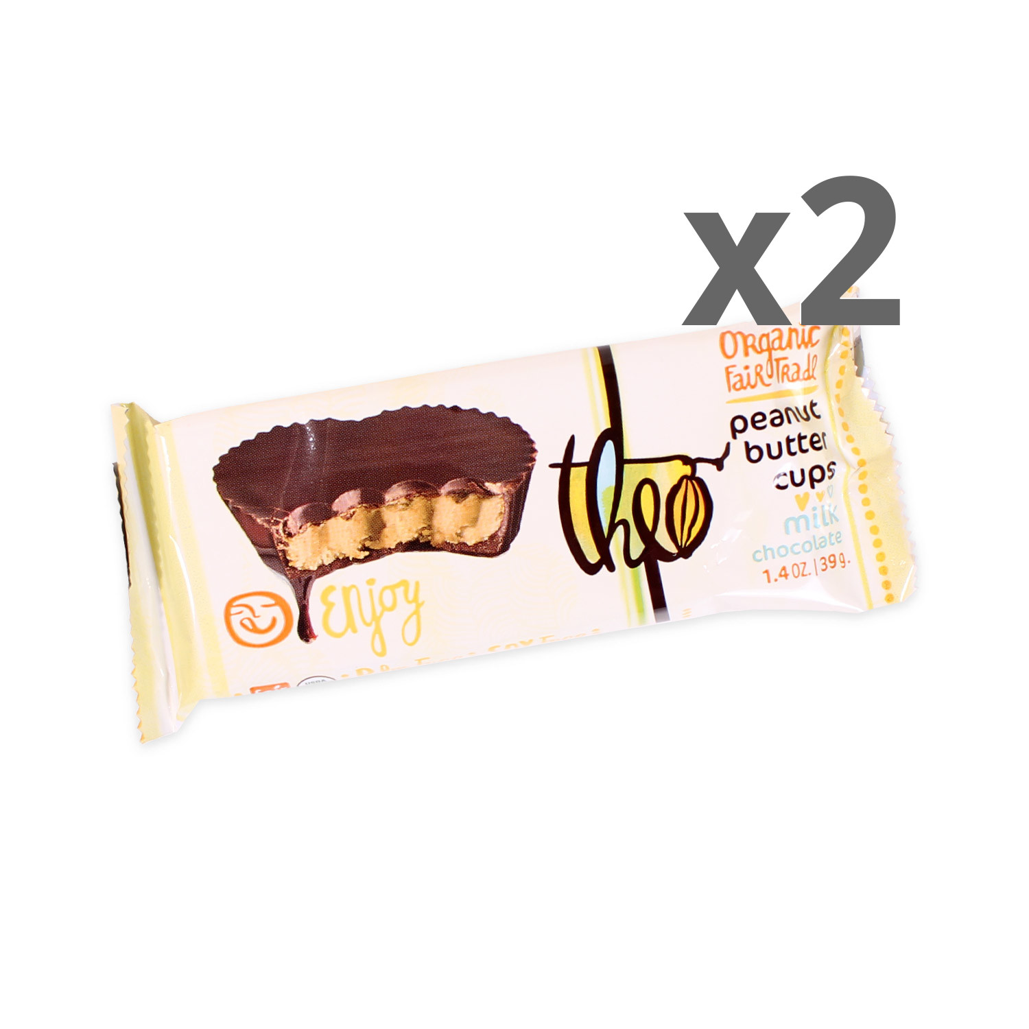 Theo Milk Chocolate Peanut Butter Cups 2-Pack