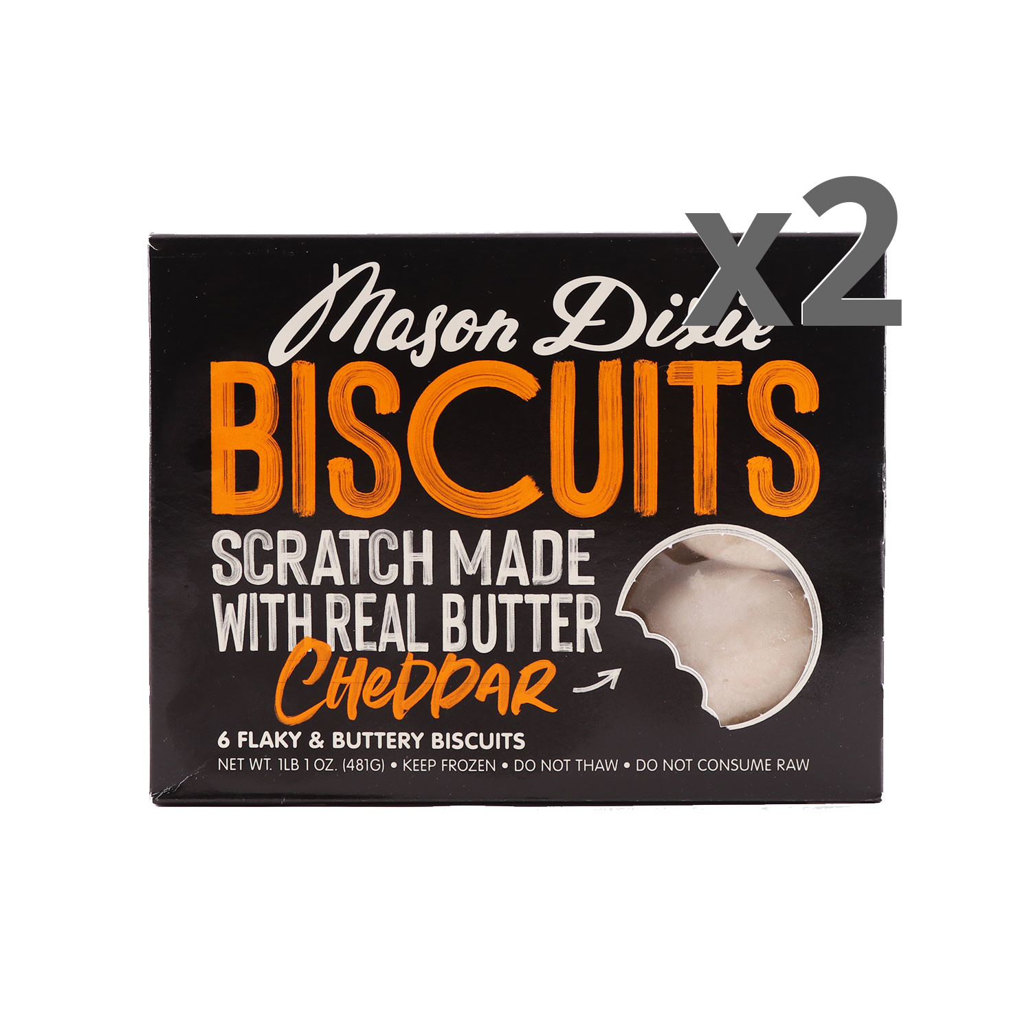 Mason Dixie Cheddar Biscuits 2-Pack
